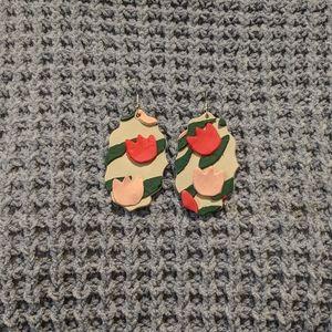 Tulip Polymer Clay Earrings